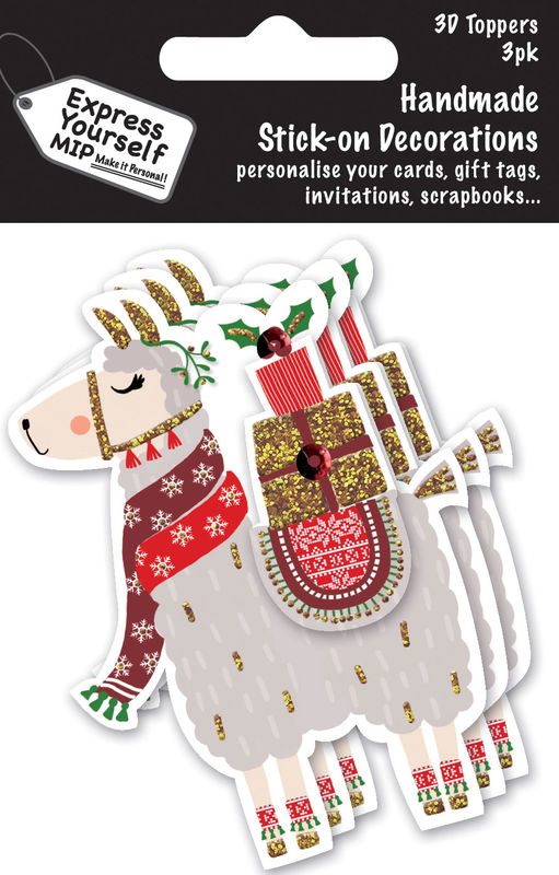 Xmas Mini Multi Pack Toppers -  Llama - product images