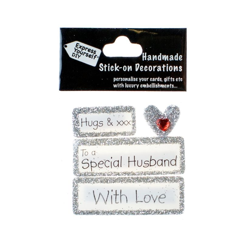Handmade stick on Captions - Special Husband - product images
