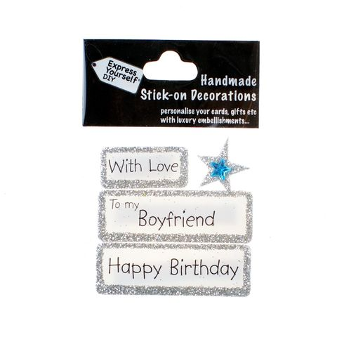 Handmade,stick,on,Captions,-,Boyfriend,stick-on captions, craft, handmade, glitter, silver glitter,Star