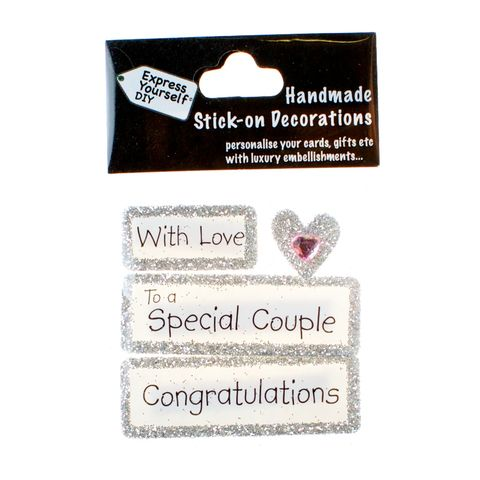 Handmade,stick,on,Captions,-,Special,Couple,stick-on captions, craft, handmade, glitter, Silver glitter,heart