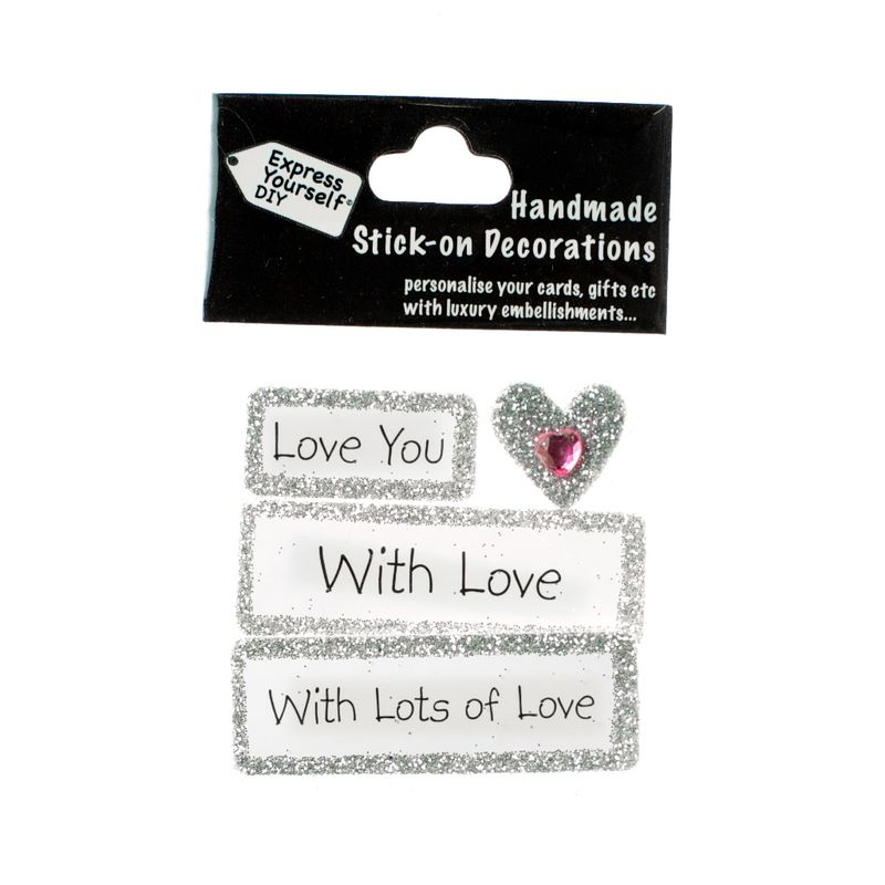 Handmade stick on Captions - Love - product images