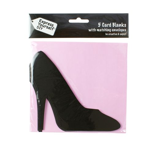 Shoe,Craft, Black, Card Blanks, Shoe, Shaped