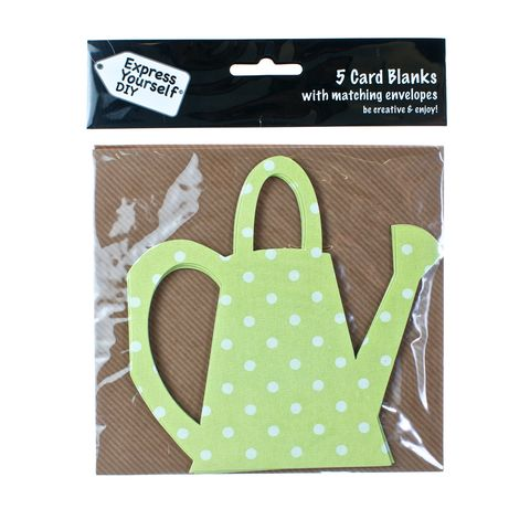 Spotty,Watering,Can,Craft, Green, Card Blanks, Watering Can, Spotty, Shaped