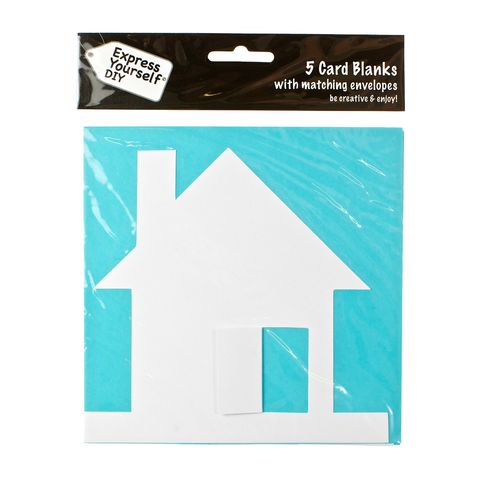 House,Craft, White, Card Blanks, House, Shaped