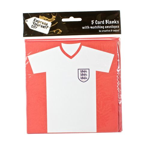 England,Football,Shirt,Craft, White, Card Blanks, Football Shirt, Shaped