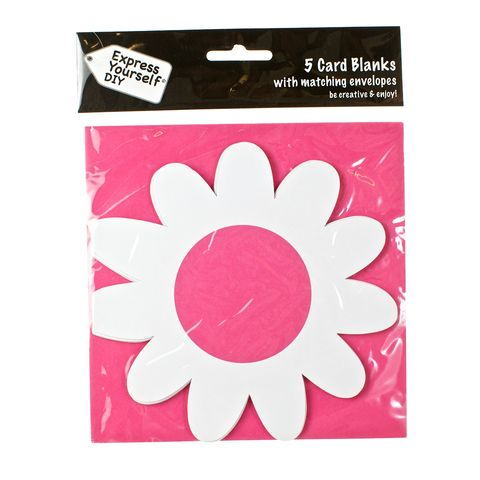 Flower,Craft, White, Card Blanks, Flower, Shaped