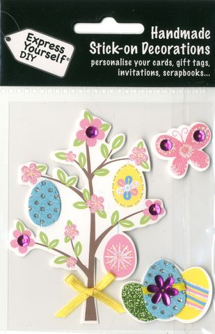 Tree,With,Eggs,&,Butterfly,Craft, Easter, Tree, Eggs, Butterfly , Toppers