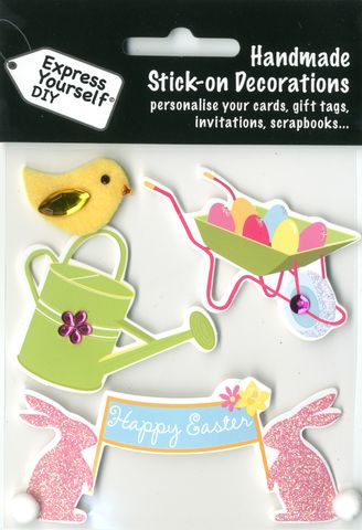 Watering,Can,,Wheelbarrow,&,Chick,Craft, Easter, Watering Can, Wheelbarrow, Chick , Toppers