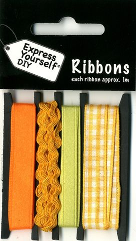 Ribbons,-,Yellow,Gingham,Craft, Easter, Yellow Gingham, Ribbons