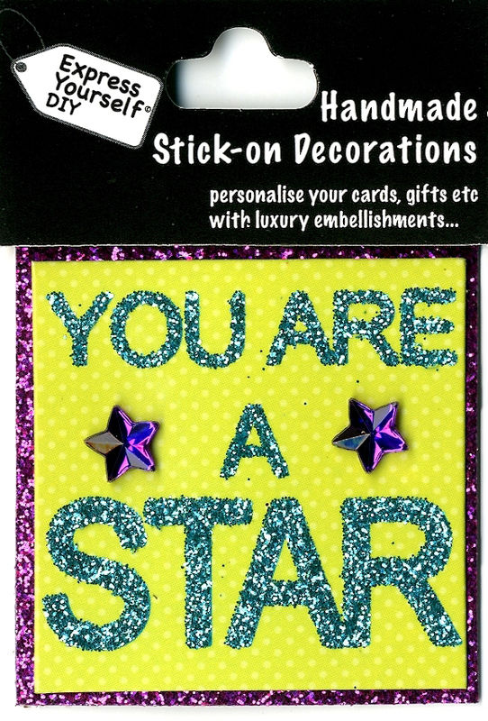Handmade (Mini) Stick On Parts - You Are A Star (Words) - product images