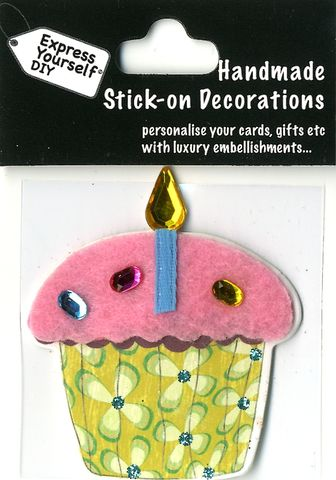 Handmade,(Mini),Stick,On,Parts,-,Fairy,Cake,Stick-on captions, craft, Stick-on captions, Fairy Cake, Candle, Mini Toppers