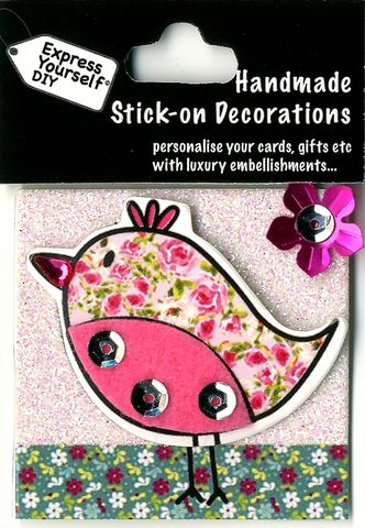 Handmade,(Mini),Stick,On,Parts,-,Floral,Bird,Stick-on captions, craft, Stick-on captions, Floral Bird , Mini Toppers