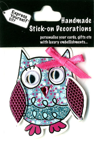 Handmade,(Mini),Stick,On,Parts,-,Owl,Stick-on captions, craft, Stick-on captions, Owl, Mini Toppers