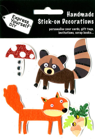 Fox,&,Raccoon,Craft, Fox, Raccoon, Mushroom, Animals, Topper