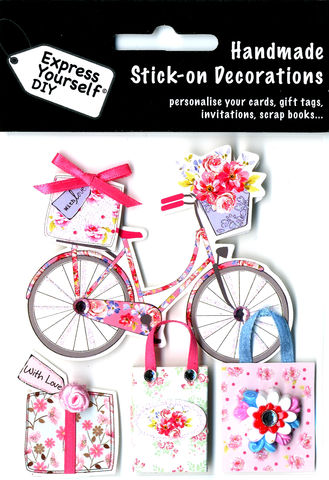 Bicycle,&,Gifts,Craft, Bicycle, Gifts, Bags, Flowers, Topper