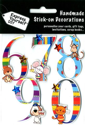 Juvenile,Numbers,6,-,0,Craft, Juvenile Numbers, 6,7,8,9, Kids, Animals, Topper