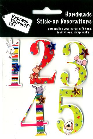 Juvenile,Numbers,1,-,5,Craft, Juvenile Numbers, 1,2,3,4, Kids, Animals, Topper