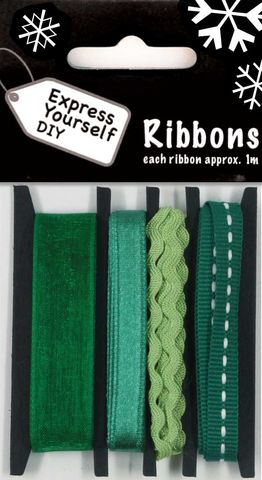 Green,Ribbons,Craft, Christmas, Green, Ribbon