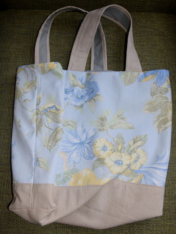 Springtime,Bag,bag, blue and yellow, flowers, shopping, gift, handmade, limited edition, vintage
