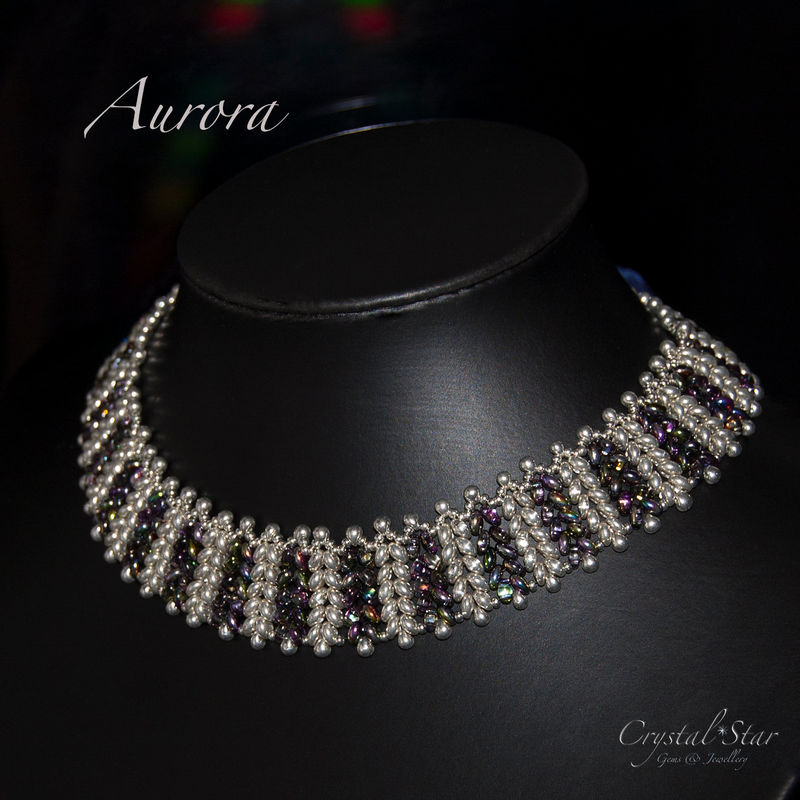 Herringbone Necklace 'Aurora' Tutorial - product image
