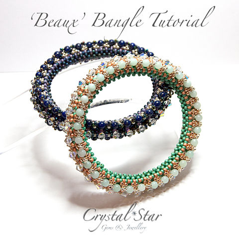 Beaux,Bangle,Tutorial,Patterns,pattern,jewellery,tutorial,beading,beaded,bead,seed_bead,crystal,bangle,twin_bead,corono,bangle_tutorial,bangle_pattern,No11 Seed Beads,4mm rounds,4mm bicones,No15 Seed Beads,No8 Seed Beads