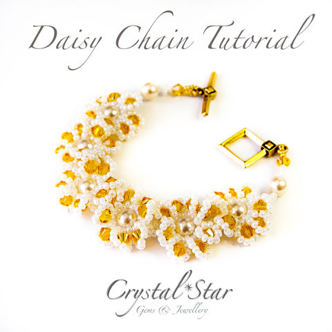 Daisy,Chain,Tutorial,Pattern,Beading,Jewelry,tutorial,beading,beaded,bead,seed_bead,crystal,daisy,pattern,daisy_chain,bracelet,No11 Seed Beads,4mm rounds,4mm faceted rounds,4mm bicones,clasp,6mm pearls