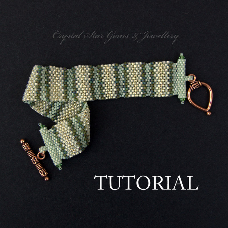 Striped Peyote Bracelet Tutorial - product images