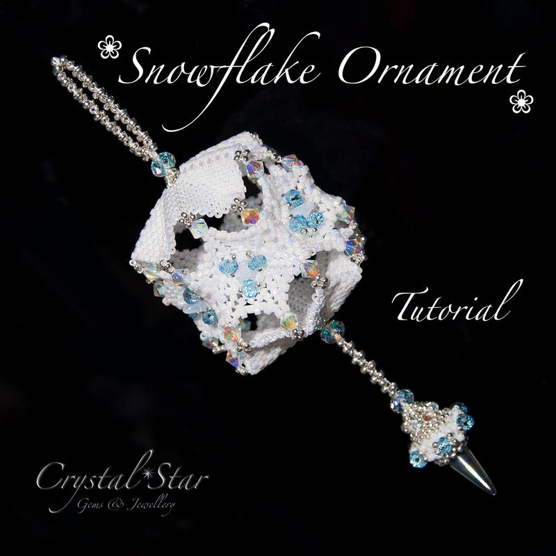 Snowflake Christmas Ornament Tutorial PDF - product image