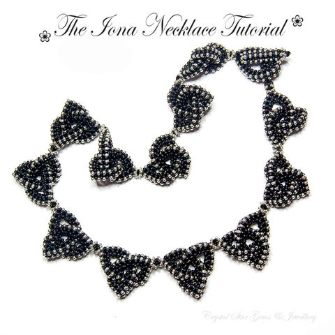 Iona,Celtic,Necklace,Tutorial,Patterns,Beading,Jewelry,Knot,Beading_Tutorial,jewellery,Celtic_Knot,Beaded_Knot,Beaded,CRAW,Cubic_Right_Angle,Right_Angle_Weave,CRAW_weave,Miyuki seed beads,Toho seed beads,Swarovski Bicones