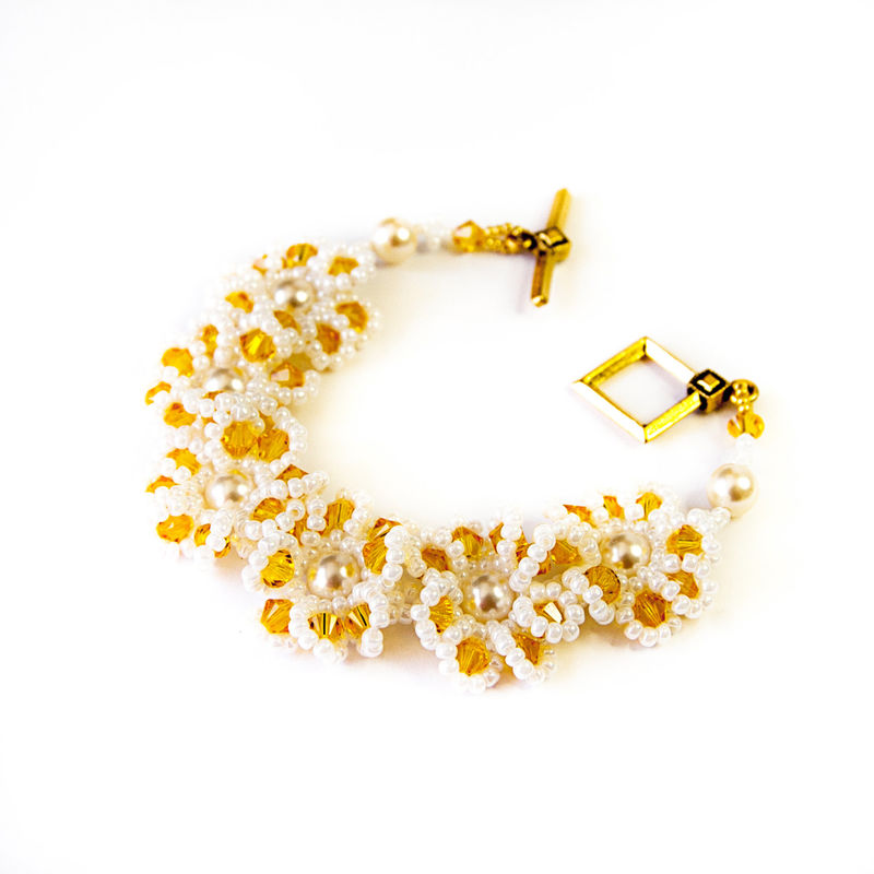 Crystal Daisy Chain Bracelet - product image
