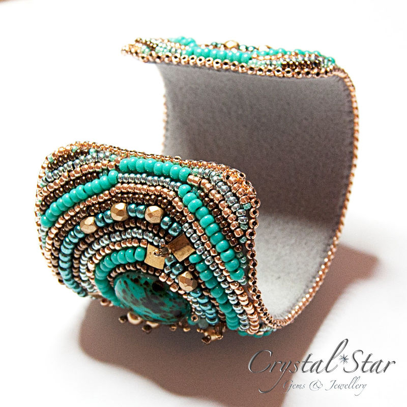 Azure Bead Embroidered Cuff - product image