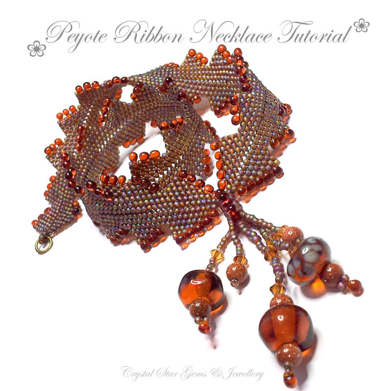 Peyote Ribbon Necklace Tutorial - product images