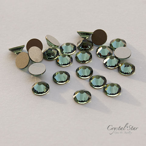 Swarovski,Xilion,Rose,SS34,-,Erinite,NON,HOT,FIX, swarovski, 7mm, SS34, Xilion, Rose, Erinite, non hot fix, discontinued, flat backed, foiled, 2058, green, crystal