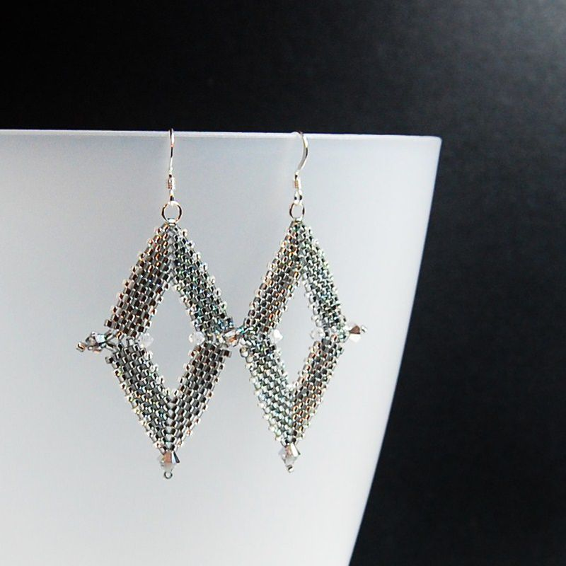 Diamond Peyote Earrings - product image