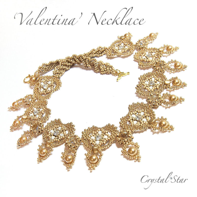 Valentina Necklace PDF Tutorial - product image