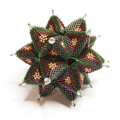 Christmas,Ornament,-,Beading,Pattern,PDF,Tutorial,SECRET,STAR,Beaded ornament, ornament, christmas,tutorial,pattern,instructions,geometric,handmade,gift,baby's first christmas,secret star, geometric star, beading, PDF, tutorial, pattern