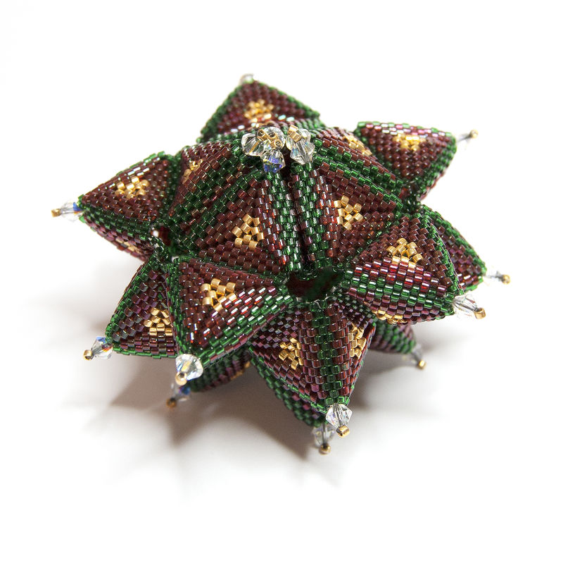 Christmas Ornament - Beading Pattern - PDF Tutorial - SECRET STAR - product image