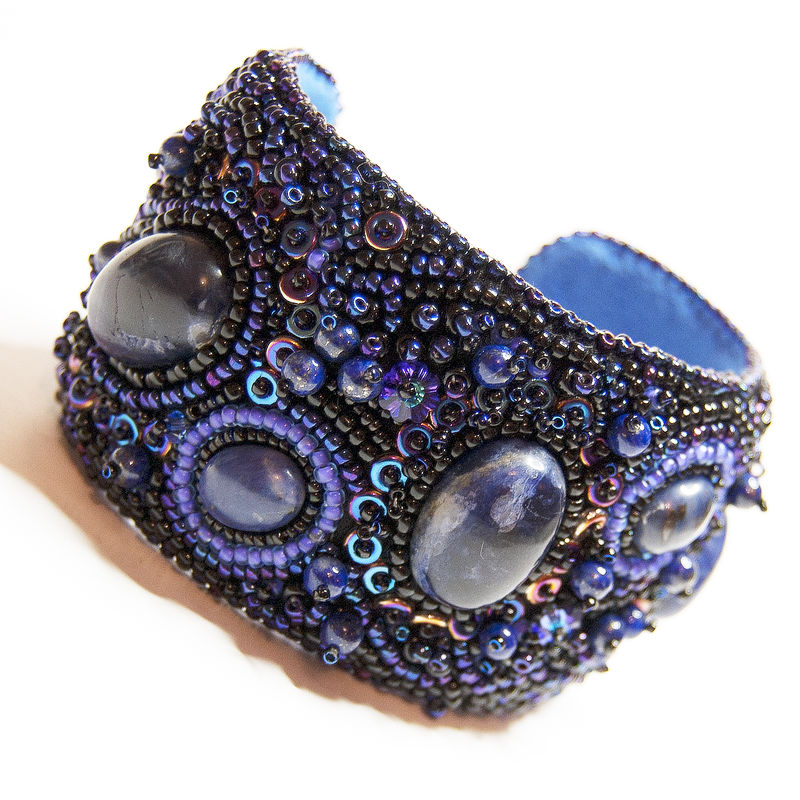 Bead Embroidered Cuff - 'Galaxy' - product image