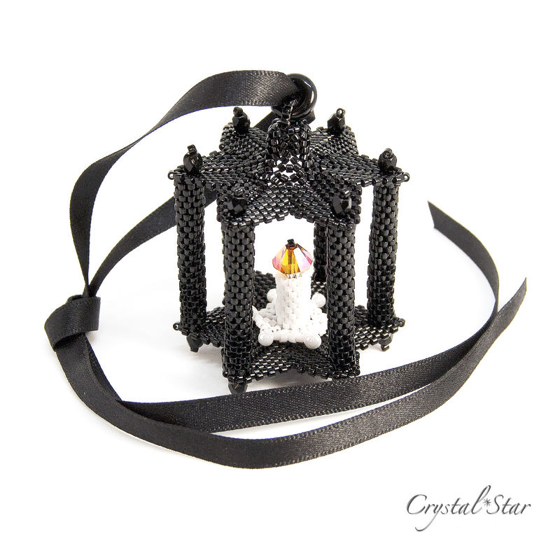 Lantern - Beaded Christmas Ornament - product images
