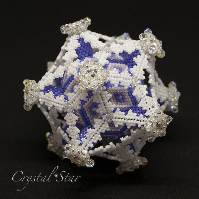 Frosted Deltahedron - Peyote Stitch - Geometric Beadwork - product image