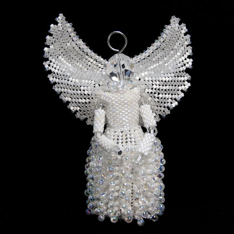 The,Guardian,Angel,-,using,Peyote,Stitch,and,Herringbone,Beaded,beading,geometric,star,,ornament,peyote,christmas,PDF,tutorial,pattern,instructions,handmade,gift, PDF, tutorial, pattern, geometric, six pointed star, tartan, thistle