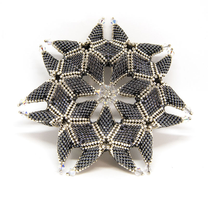 The Lulana Star - Tutorial - Peyote Stitch - Geometric Beadwork - product images