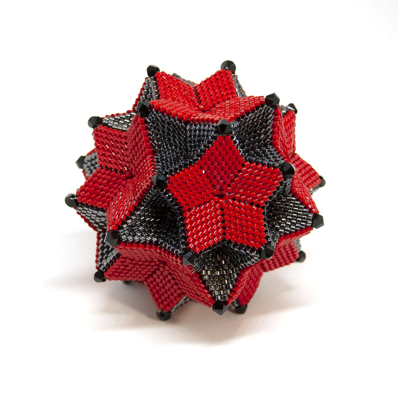 The Stargazer Ornament - Peyote Stitch - Geometric Beadwork - product images