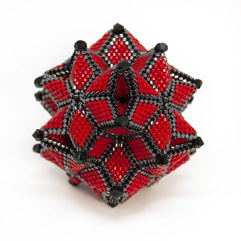 The,Morning,Star,Ornament,-,Peyote,Stitch,Geometric,Beadwork,Beaded,beading,geometric,star,ornament,peyote,christmas,PDF,tutorial,pattern,instructions,handmade,gift, PDF, tutorial, pattern, geometric, star,Morning Star,Tracey Lorraine,Crystal Star Gems & Jewellery