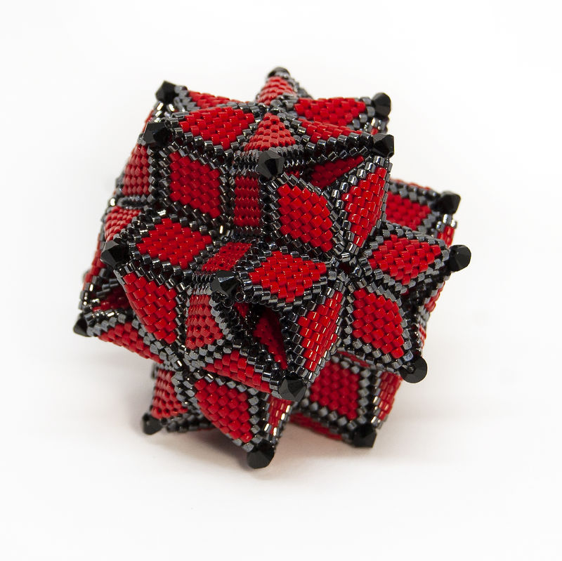 The Morning Star Ornament - Peyote Stitch - Geometric Beadwork - product image