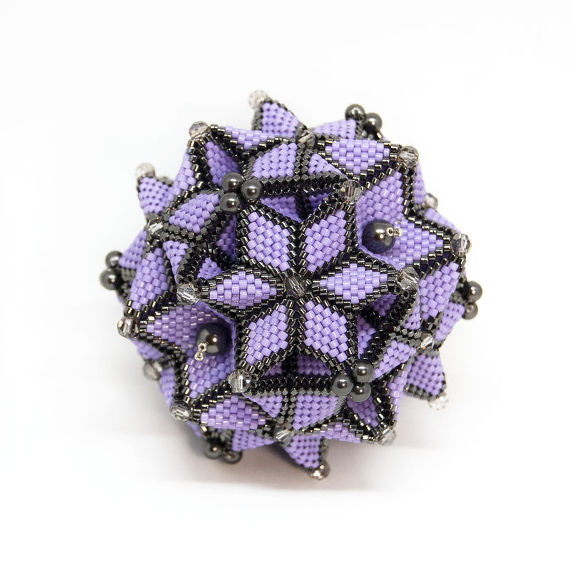 The Galaxy Ornament - Peyote Stitch - Geometric Beadwork - product images