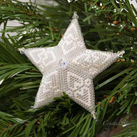 The,Glass,Heart,Star,-,Peyote,Stitch,Beaded,beading,geometric,star,,ornament,peyote,christmas,PDF,tutorial,pattern,instructions,handmade,gift, PDF, tutorial, pattern, geometric, glass heart star, Tracey Lorraine, Crystal Star Gems & Jewellery