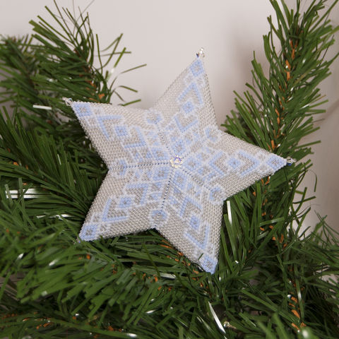 The,Glass,Snowflake,Star,-,Peyote,Stitch,Beaded,beading,geometric,star,,ornament,peyote,christmas,PDF,tutorial,pattern,instructions,handmade,gift, PDF, tutorial, pattern, geometric, glass snowflake star, Tracey Lorraine, Crystal Star Gems & Jewellery
