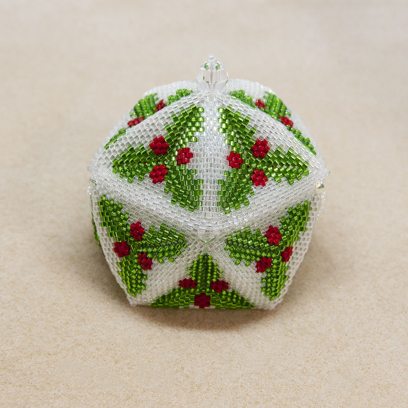 The Holly Trinket Box - Peyote Stitch - product image