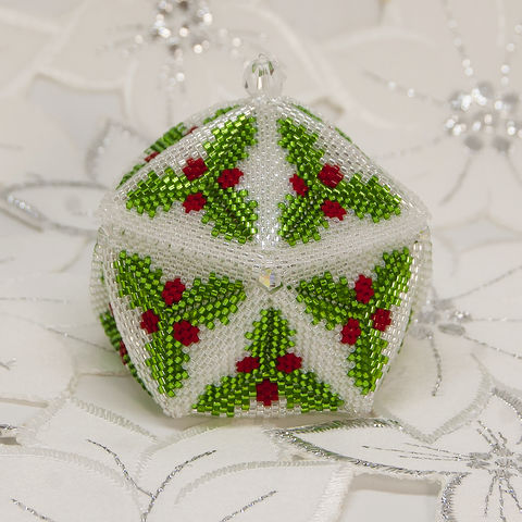 The,Holly,Trinket,Box,-,Peyote,Stitch,Beaded,beading,geometric,star,,ornament,peyote,christmas,PDF,tutorial,pattern,instructions,handmade,gift, PDF, tutorial, pattern, geometric, glass snowflake star, Tracey Lorraine, Crystal Star Gems & Jewellery